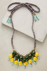 Anthropologie Alondra Bib Necklace Green