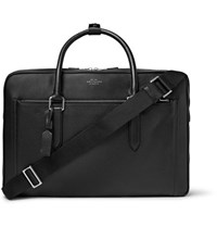 Smythson Burlington Grained Leather Holdall Black
