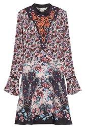 Mary Katrantzou Printed Silk Dress Florals