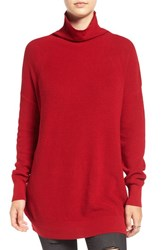 Women's Bp. Lightweight Turtleneck Red Scooter