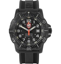 Luminox Anu 4221 Stainless Steel And Rubber Watch Black