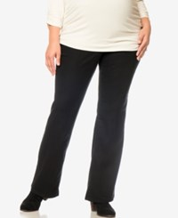 Motherhood Maternity Plus Size Dress Pants Black