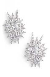 Women's Cz By Kenneth Jay Lane 'Explosion' Cubic Zirconia Stud Earrings