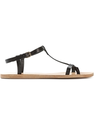 N.D.C. Made By Hand T Bar Flat Sandals Black