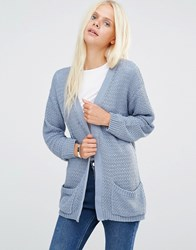 B.Young Mica Structure Knit Cardigan Moonlight Blue