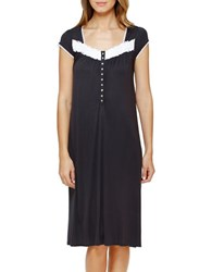 Eileen West Plus Short Sleeve Waltz Nightgown Charcoal