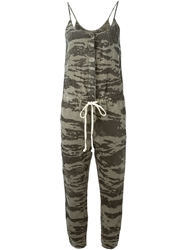 Enza Costa Camouflage Print Jumpsuit Black