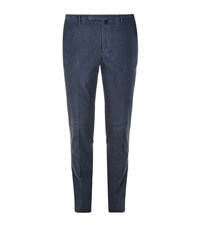 Slowear Incotex Waffle Cord Casual Trousers Male Dark Grey