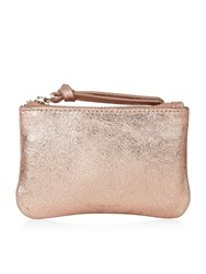 Accessorize Leather Coin Purse Rose Gold