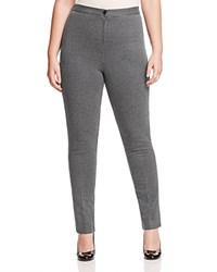 Marina Rinaldi Olmio Houndstooth Jersey Pants Light Gray