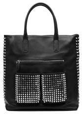 Steffen Schraut Embellished Leather Tote Black