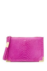 Foley Corinna Genesis Leather Wristlet Pink