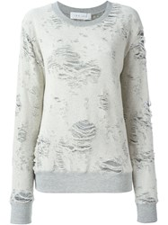 Iro Distressed Sweatshirt White