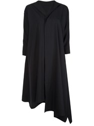 Y's Asymmetric Shirt Dress Black