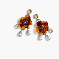 J.Crew Tortoise Flower Earrings Sundried Linen