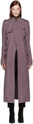 Haider Ackermann Pink Houndstooth Double Breasted Coat