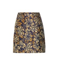 Prada Lame Jacquard Skirt Blue
