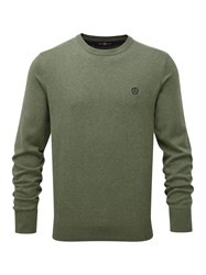 Henri Lloyd Men's Moray Regular Crew Neck Knit Olive