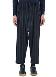 Mohsin Our Striped Dropped Crotch Pants Navy