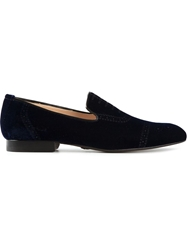 Alberto Moretti Brogue Printed Loafers Blue