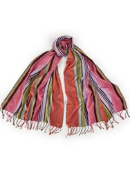 Paul Smith Ps By Stripe Scarf Multicolour