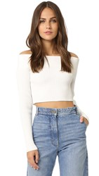 C Meo Collective Life Is Real Knit Top White