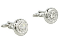 Stacy Adams Cuff Link 13894 Silver W Crystal Cuff Links Metallic