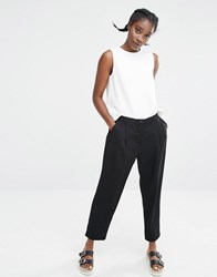 Monki Tailored Peg Trouser Black