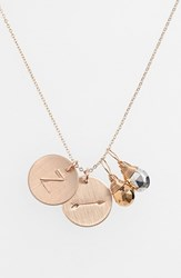 Women's Nashelle Pyrite Initial And Arrow 14K Gold Fill Disc Necklace Gold Pyrite Silver Pyrite Z