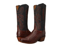 Lucchese L1454.74 Raisin Caiman Black Cowboy Boots Brown