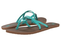 Volcom All Night Long 2 Aqua Women's Sandals Blue