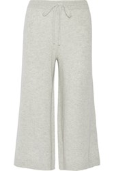 Derek Lam 10 Crosby By Cropped Cashmere Wide Leg Pants Stone