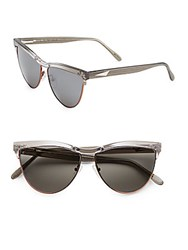 Prism Buenos Aires 52Mm Cat's Eye Sunglasses Black Glitter