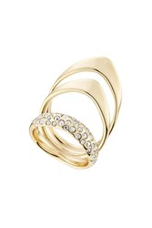 Alexis Bittar Triple Ring With Crystals Gold