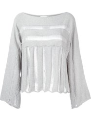 Lost And Found Rooms Kimono Jumper Grey