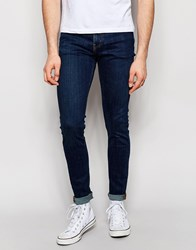 Weekday Form Super Skinny Jeans In Stretch Mtw Mid Blue Mtw