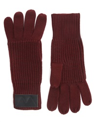 Marc By Marc Jacobs Bordeaux Knit Gloves