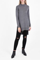Splendid Cashmere Blend Turtle Neck Grey
