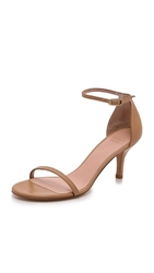 Stuart Weitzman Naked 65Mm Leather Sandals Light Camel