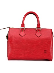 Louis Vuitton Vintage 'Speedy 25' Tote Red