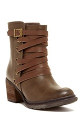 Bucco Annata Strappy Boot Brown