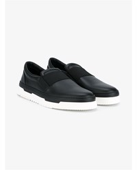 Valentino Slip On Leather Trainers Black White
