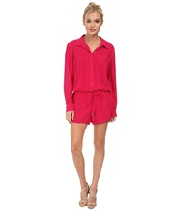 Splendid Rayon Voile Jumpsuit Rasberry Women's Jumpsuit And Rompers One Piece Red