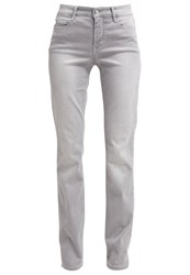 M A C Mac Dream Straight Leg Jeans Silber Grey Denim