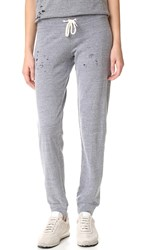 Monrow Heather Vintage Sweats With Holes Dark Heather