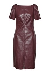 Great Plains Chicago Top Stitch Faux Leather Dress Red