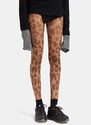 Acne Studios Kanne Leopard Print Leggings Brown