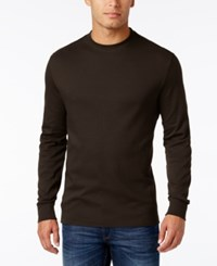 John Ashford Men's Big And Tall Interlock Crew Neck T Shirt Only At Macy's Sable