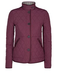 Aquascutum London Stoney Quilted Jacket Plum