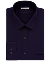 Van Heusen Men's Big And Tall Solid Dress Shirt Purple